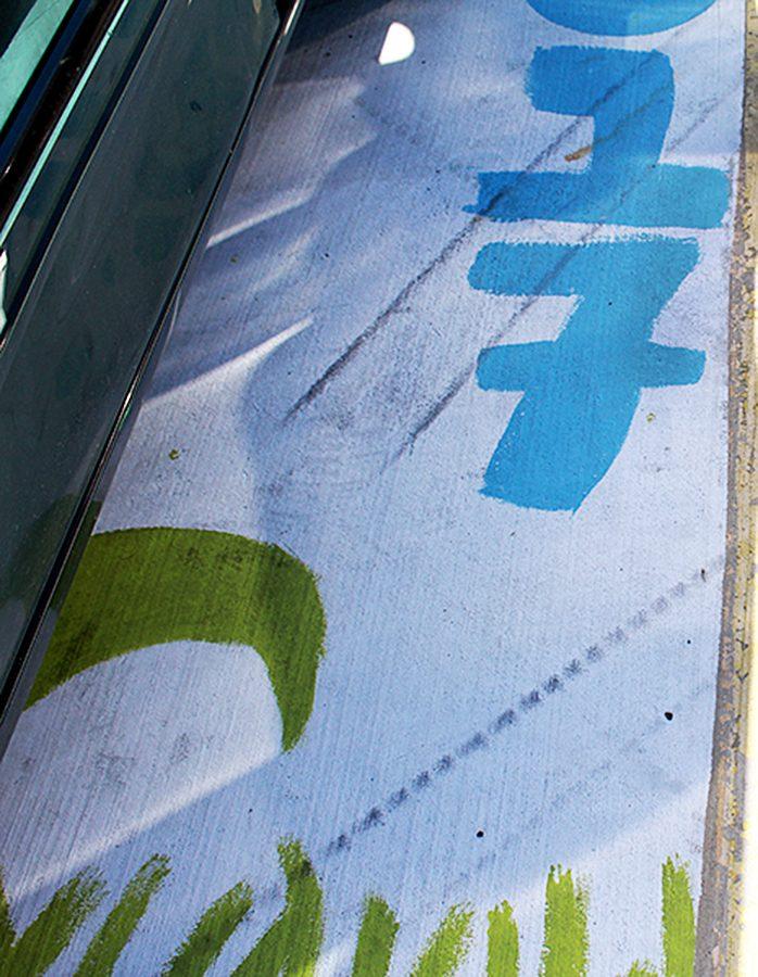Senior Parking Spots Vandalized