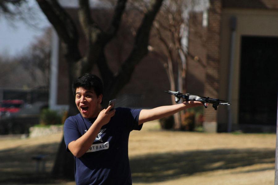 Broadcast Flying drones